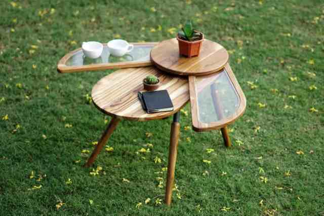 beetle-inspired side table