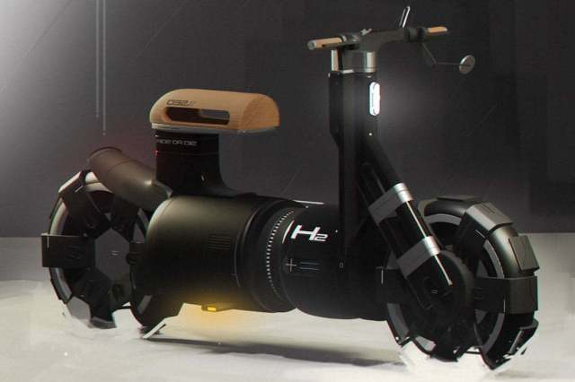 Coffee Machine Inspired Futuristic Electric Bike