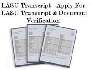 LASU Transcript - Apply For LASU Transcript & Document Verification