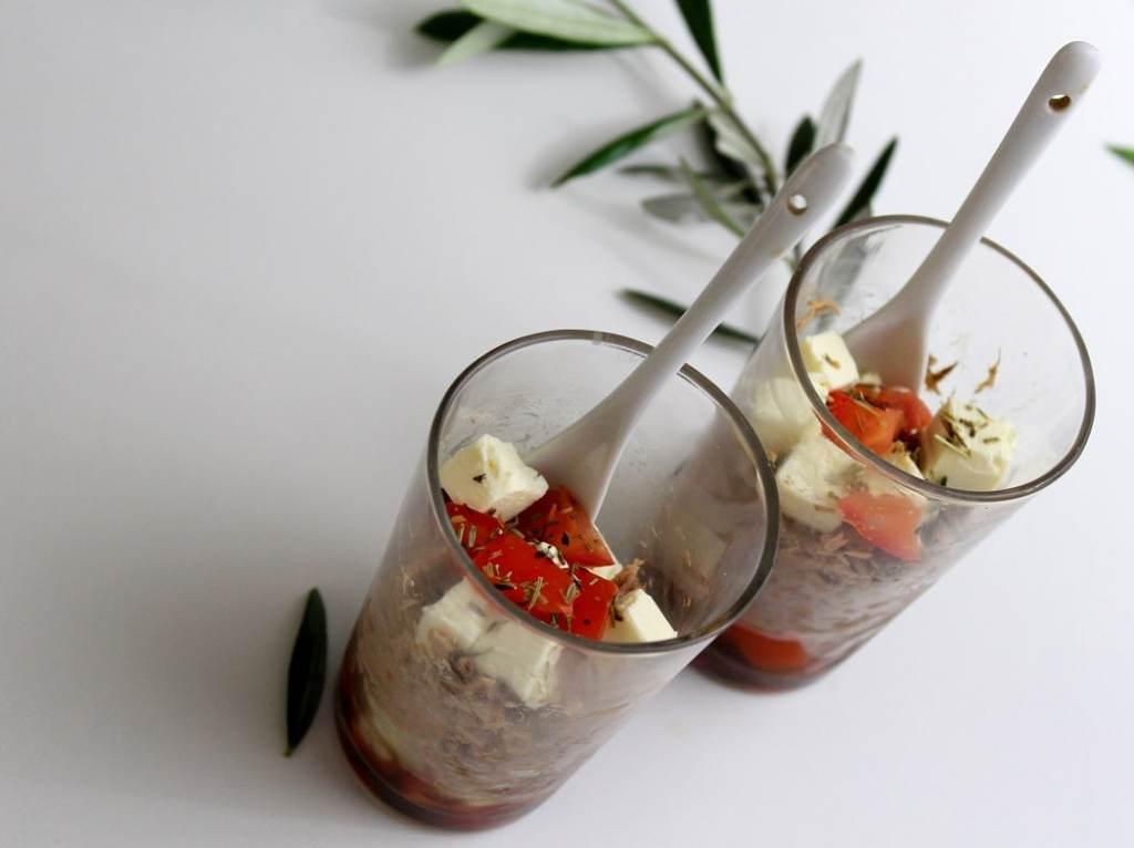 recette verrines de thon