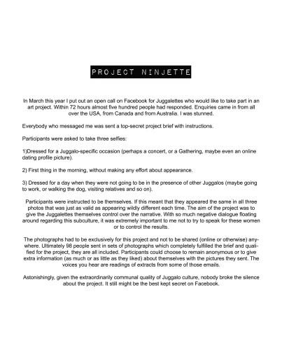 Project Ninjette (information sheet)