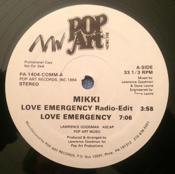 Mikki ‎– Love Emergency