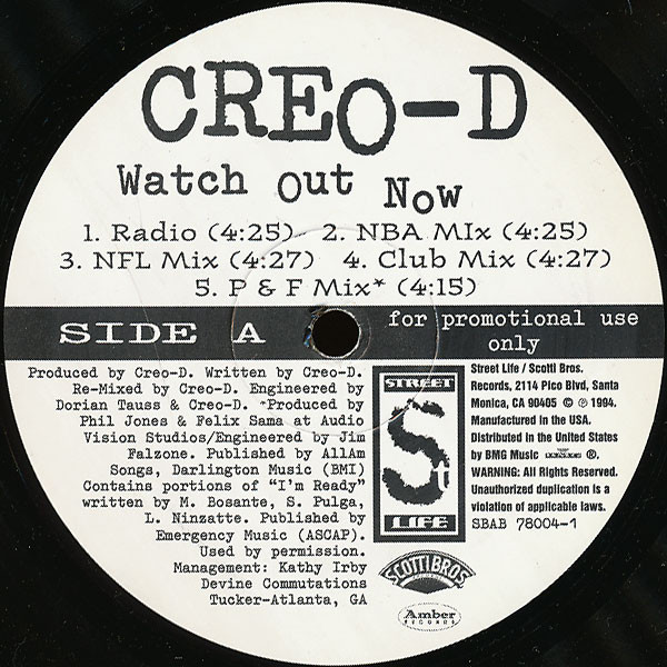 Creo-D – Watch Out Now