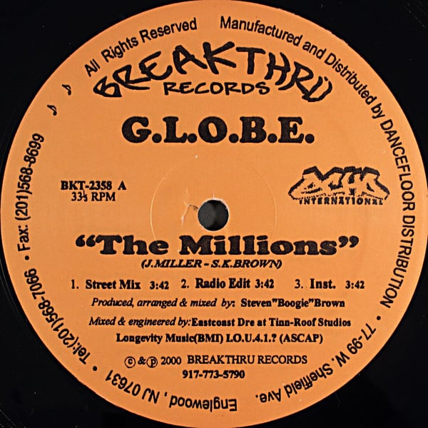 G.L.O.B.E. ‎– The Millions / He Can Feel