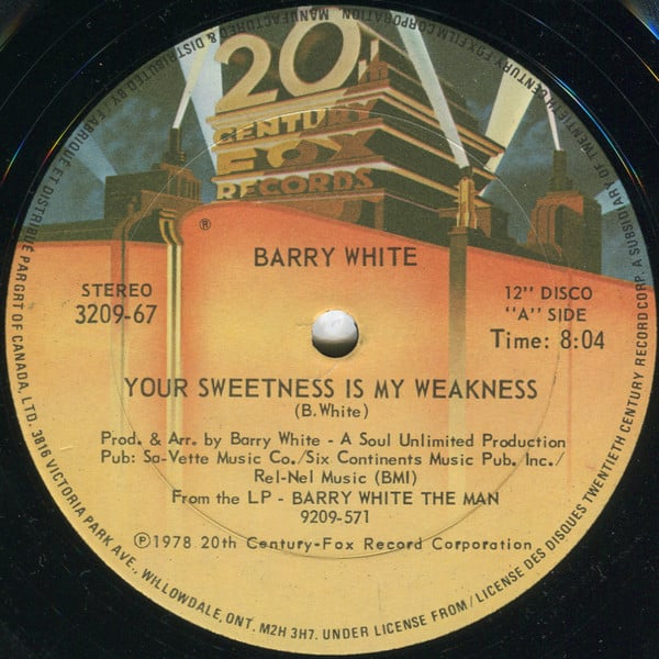 Barry White – Your Sweetness Is My Weakness
