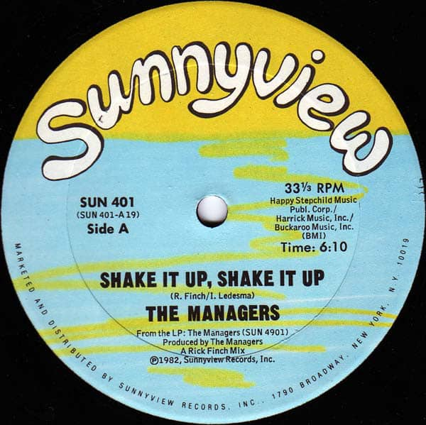 The Managers ‎– Shake It Up, Shake It Up