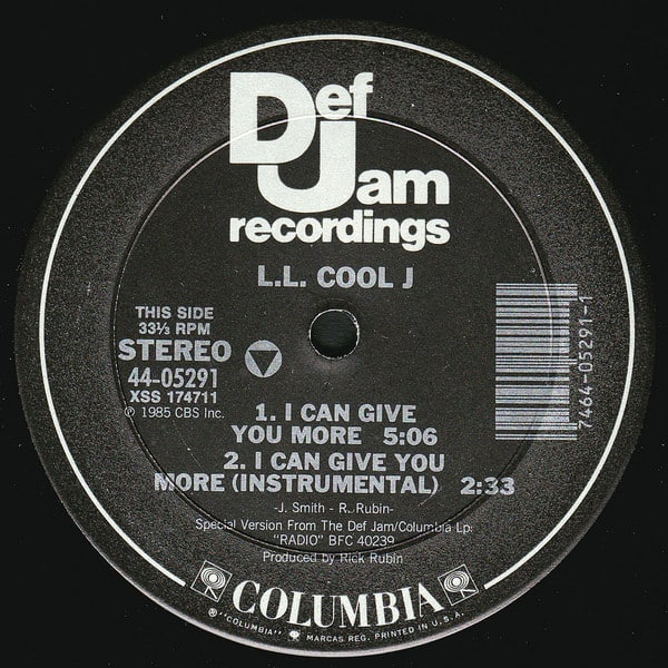 L.L. Cool J – I Can Give You More / I Can't Live Without My Radio