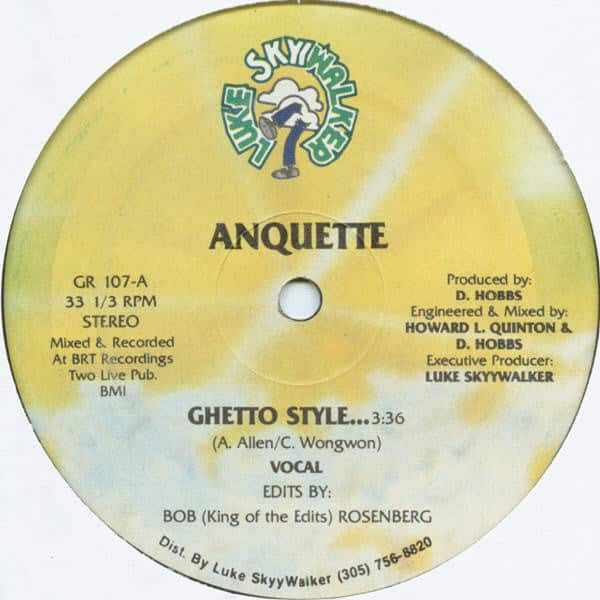 Anquette ‎- Ghetto Style…