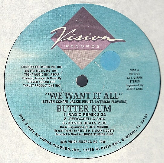 Butter Rum ‎- We Want It All