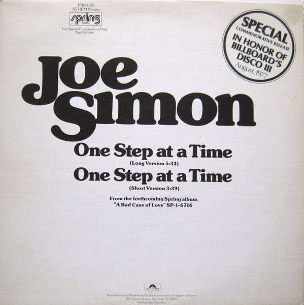 Joe Simon ‎– One Step At A Time