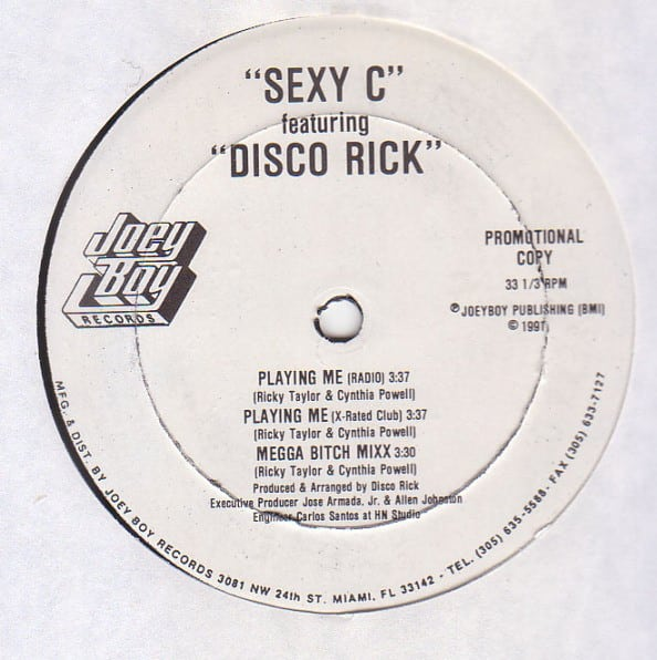 Sexy C Featuring Disco Rick / The Dogs Featuring Disco Rick ‎- Playing Me / Work It Out