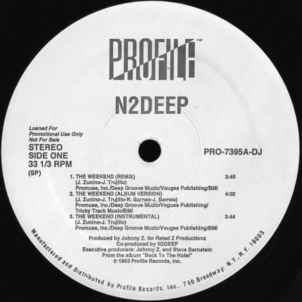 N2DEEP ‎- The Weekend / V-Town