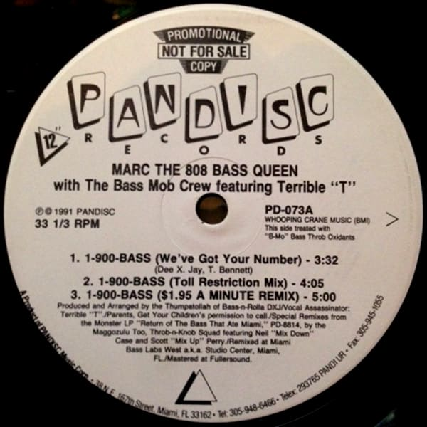 """Marc The 808 Bass Queen With The Bass Mob Crew Featuring Terrible """"T"""" – 1-900-BASS"""