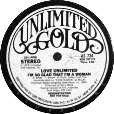 Love Unlimited – I'm So Glad That I'm A Woman / Gotta Be Where You Are