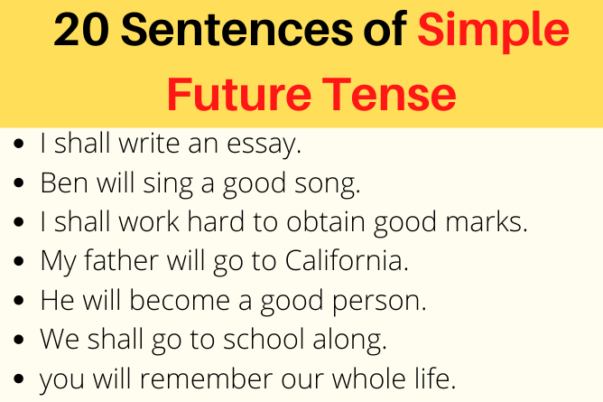 Examples of Simple Future Tense