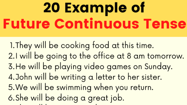 Examples of Future Continuous Tense