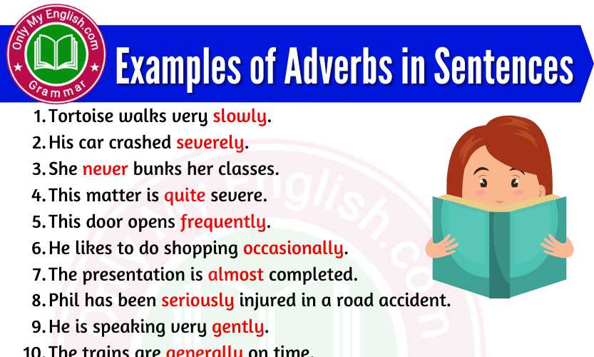 Examples of Adverbs in Sentences