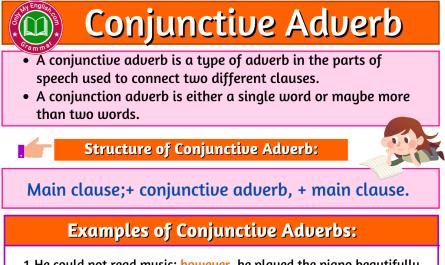 conjunctive adverb