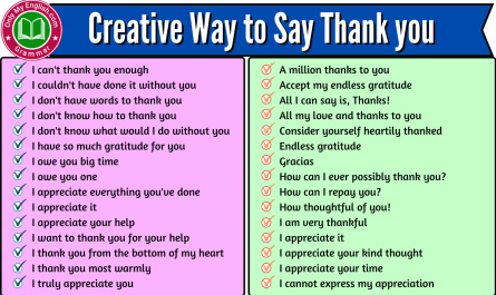 creative way to say thank you