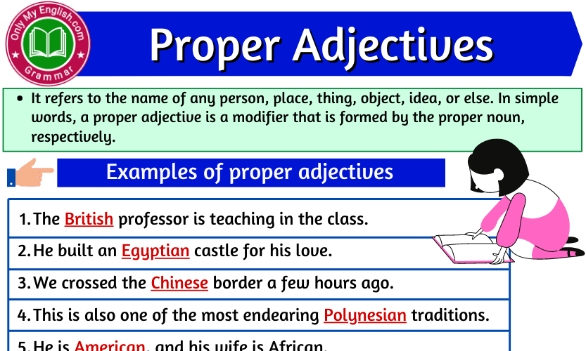 Proper Adjectives: Definition, Examples, and List