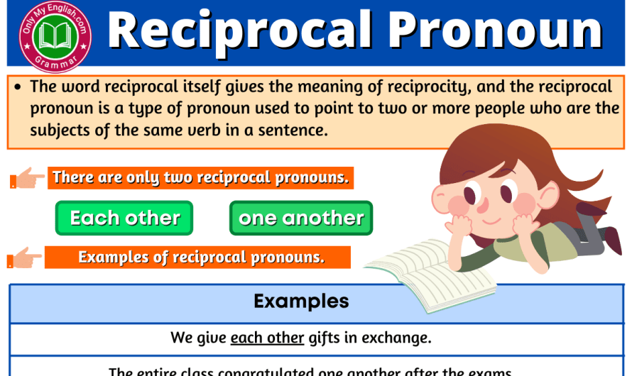 Reciprocal Pronoun: Definition, Types, Examples, & List