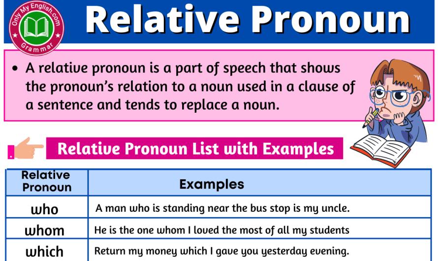 Relative Pronoun: Definition, Examples, Sentences, and List