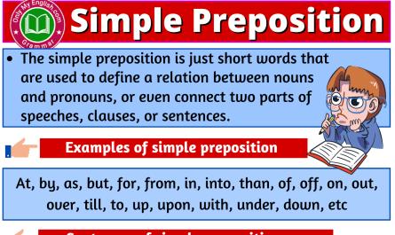 simple preposition