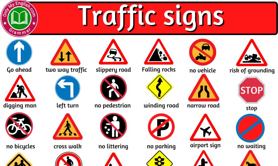 List of Road Sign and Traffic Symbols
