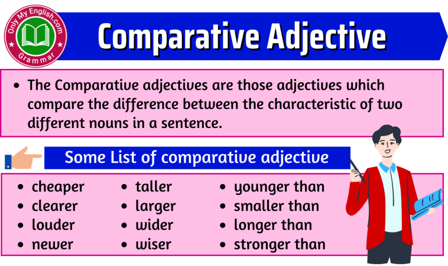 Comparative Adjectives: Definition, Examples, & List