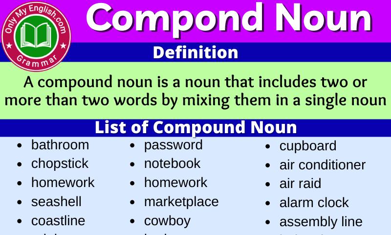 Compound Noun: Definition, Examples Sentences & List