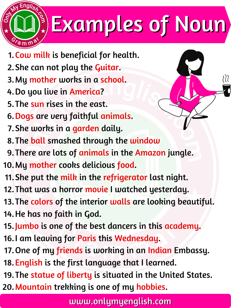 noun examples sentences