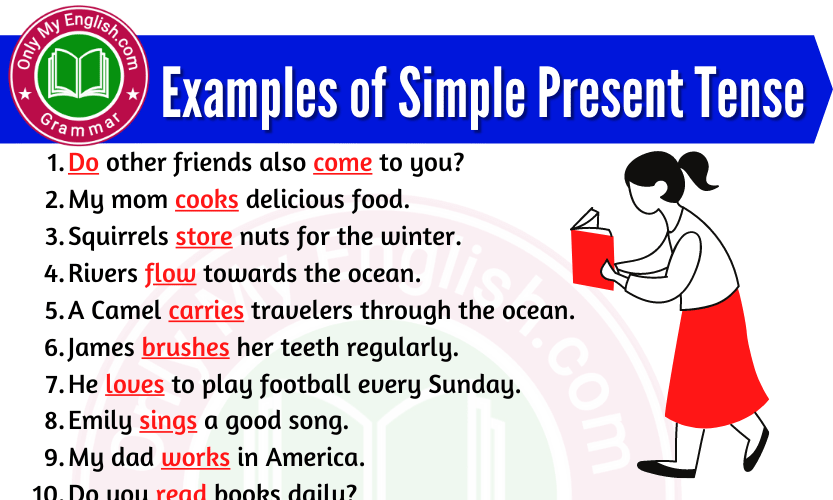 Examples of Simple Present Tense