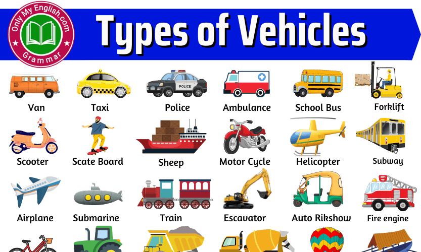 Different Types of Vehicles with Name and Pictures