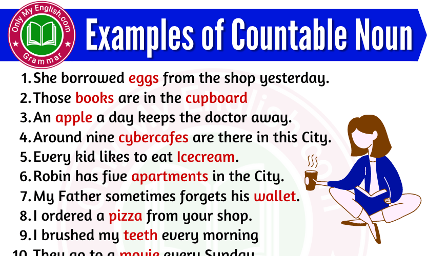 Examples of Countable nouns are in Sentences