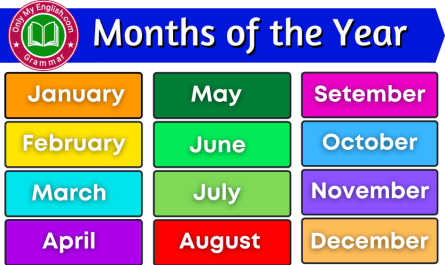 months of the year list