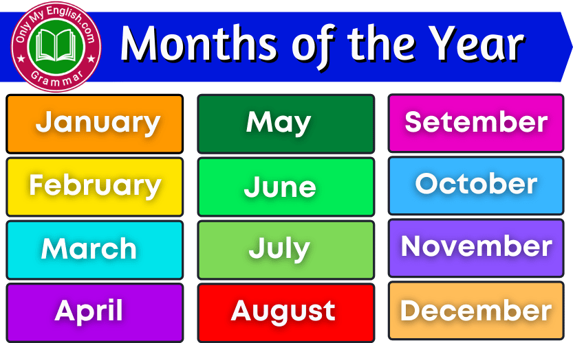 List of 12 Months of the year