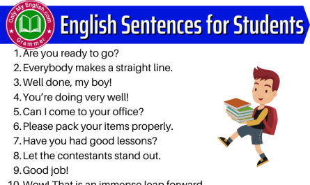 sentences for students