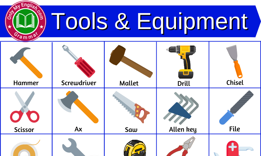 Tools Name: Complete List of Tools and Equipment