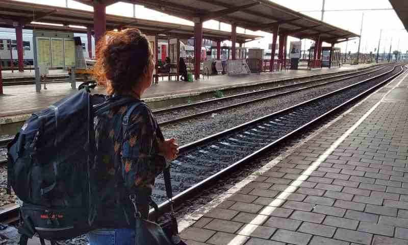 Waiting for the next train