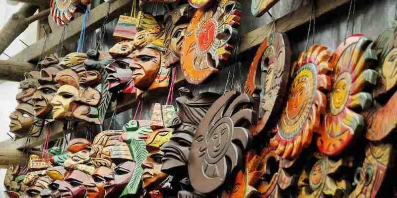 Masks at Chichicastenango market