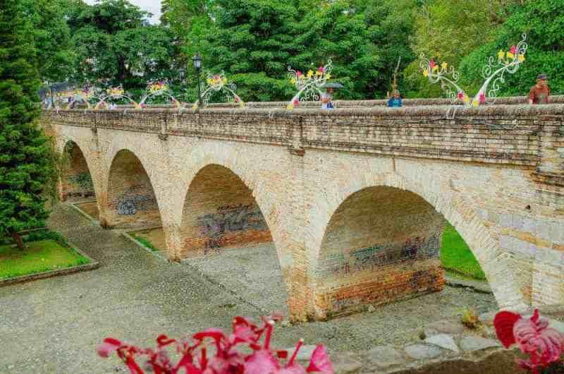 Humilladero bridge Popayan Colombia.