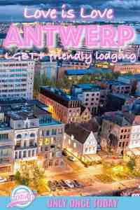 Find the coolest actively lesbian and gay friendly hotels and hostels in Antwerp.