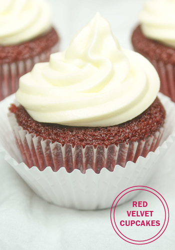 #RedVelvet #Cupcakes. Just in time for #ValentinesDay. Visit OnlyTasteMatters.com for the full #recipe. #dessert #baking #glutenfree