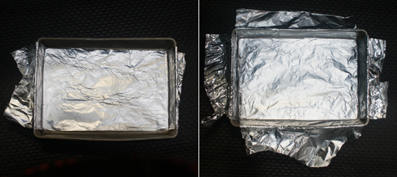 Make a foil sling for #brownies. For the full #recipe, visit OnlyTasteMatters.com. #dessert #glutenfree