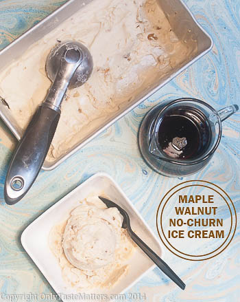 No-churn #Maple Walnut Coconut Cream #IceCream. Make this delicious non-dairy ice cream without an ice cream maker. For the #recipe, visit OnlyTasteMatters.com.
