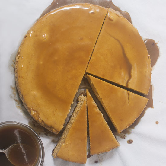#Pumpkin #Cheesecake with Bourbon Caramel Sauce. Perfect #Thanksgiving #dessert! #glutenfree #pumpkinrecipe