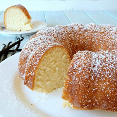Gluten Free Vanilla Bundt Cake from Faithfully Gluten Free