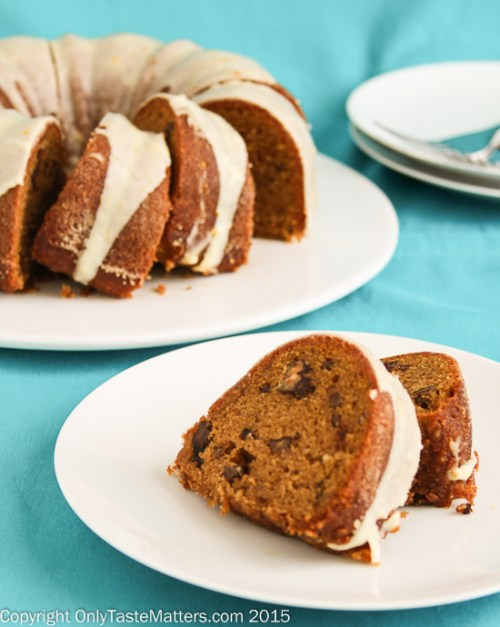 Spiced Sweet Potato Bundt Cake with Orange Glaze #GlutenFree