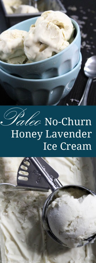 Paleo No-Churn Honey Lavender Ice Cream | only Taste Matters