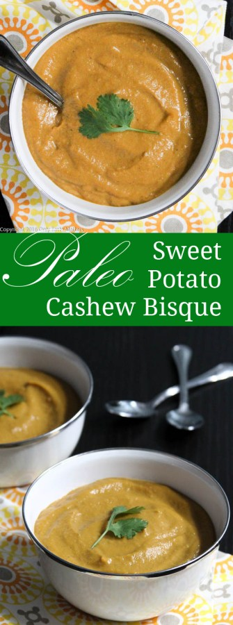 Slow Cooker Sweet Potato and Cashew Bisque {Paleo} | Only Taste Matters